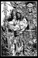 Conan black and white art by LiamSharp