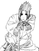 just a sketch of sasuke-kun... by francydarkcool