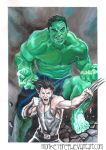 Wolverine e Hulk color by MonkeyFire99