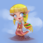 Chibi Zelda - Collaboration by Paper-Plate