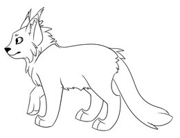 Cat Lineart by Rhenae