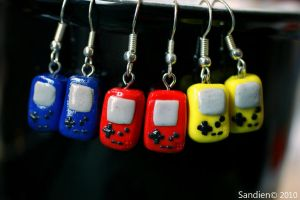 Gameboy Color earrings by Sandien