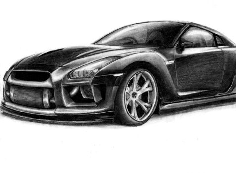 Nissan GT-R Draw by SaMuVT