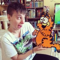perler beads  garfield by staubtaenzerin