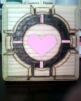 Companion Cube coaster by cutiechibi