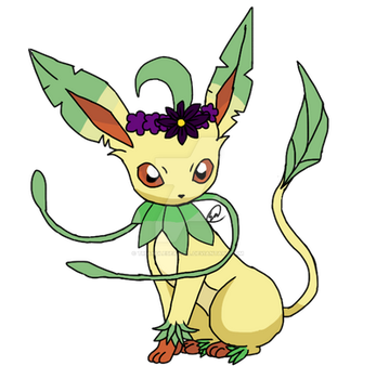 Mega Leafeon by TriangleSeagull
