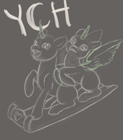 Sleigh Ride YCH - [closed] by aHorseForEverySeason