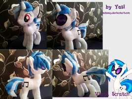 My little Pony - Vinyl Scratch Plushy #1 by SakuSay