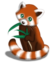 *Re-uploading* OLD Art: Red Panda by Sarilain
