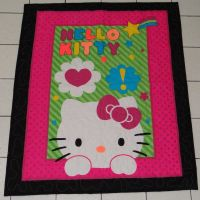 Hello Kitty Quilt by quiltoni