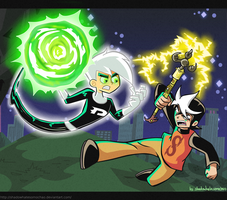 CM: Danny Phantom VS Zak Saturday by shadowhatesomochao