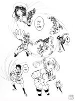 Action Sketches~ by Ainoyu