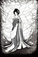 Spiderweb Woman by Monstrous-Teaparty