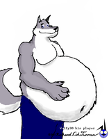 Wolfy2 too fat for this pic by NightCrestComics