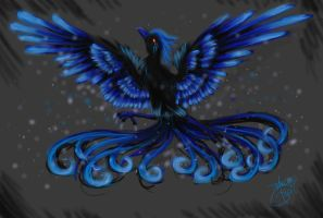 Spirit of Black and Blue by Chi-Bird