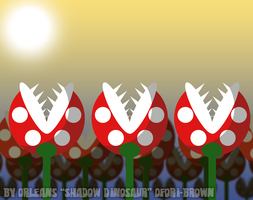 Piranha Plant Field by Shadow-Dinosaur