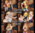 Haunted house reaction meme Saint Seiya by UnicaGem