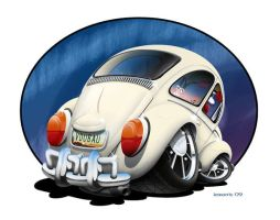 Cartoon VW of my friends car by lemorrisharris