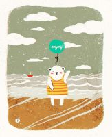 Some Sea for a Bright Day by ElisaAyala