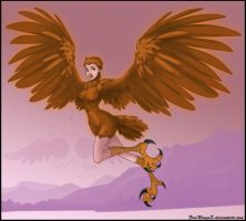 Jessica Alba as harpy by FreeWingsS