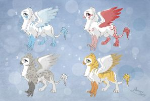 [Closed] Adoptables: Gryphons2 by MySweetQueen