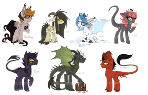 Seven deadly ponies (Auction) by Jinetix