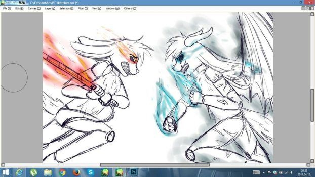 Epic Fight (WIP) by ask-thefreddys