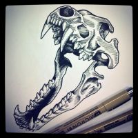 Wolf Skull by BlvqWulph