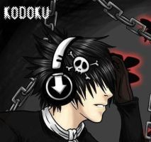 emo boy with headphones by naruto1997