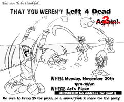 L4D2 Party Poster by Mexican-Lobo