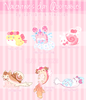 [Open!] Valentines Slug Kittens and Bunbons by Sarilain