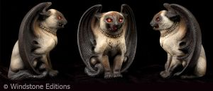 Siamese Bat cat by Reptangle