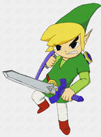 WindWaker Link - Canvas by Aleitheo