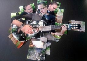 playing guitar collage by Littlemate