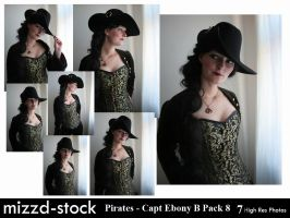 Pirates - Captain Ebony Black Portrait Pack 8 by mizzd-stock
