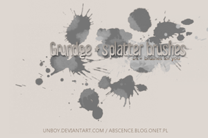 Splatter and Grunge brushes by unboy