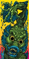 Creature From the Black Lagoon Skateboard Design by quietsecrets