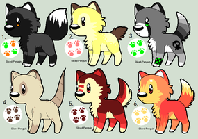 Wolf Adoptables ALL CLOSED by Sliced-Penguin