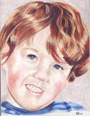 Colored Pencil drawing entitled Little Boy