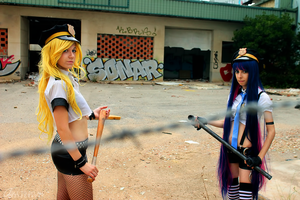 Angel patrol - Panty and Stocking cosplay by XiXiXion