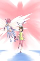 Hikari and Tailmon Complete colors by drantyno