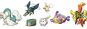 New 7 Alola Pokemon Sprites by SirAquakip