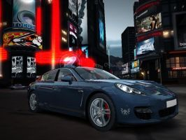 'Panamera on Times Square' by Ricky47