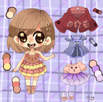 Adoptable Character + Outfit Set! Closed! by Punkichi