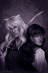 Inuyasha and Kagome by Krista-Dunaway