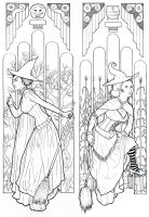 Wicked Witches of Oz - Outlines by Tinhead