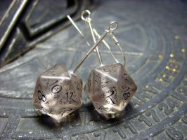 elvish k20 dice earrings v1 by kickthebucket