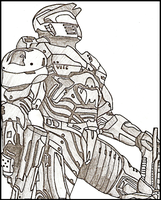 Halo Wars: Spartan by CatNCobra