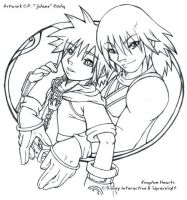 Kingdom Hearts - Sora and Riku by jidane