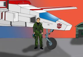 The good guy's air support - Capt Ace and Jetfire by Regis-AND